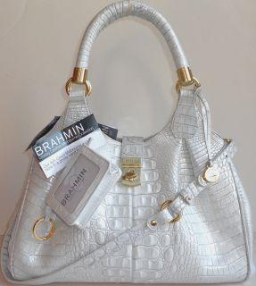 Wallet + Bleached Pearl White Shoulder Hobo Satchel Tote Bag Handbag