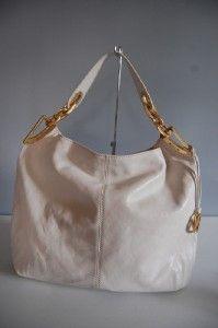 MICHAEL BY Michael Kors Leather hobo shoulder bag Vanilla $368