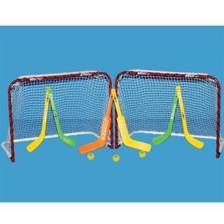 EZ Goal Knee Mini Hockey Goal Set 2 goals 4 sticks 2 Goalie sticks 3
