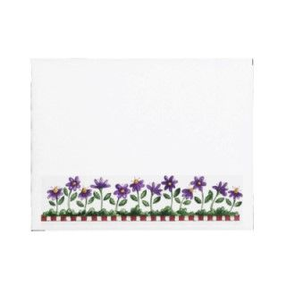 Flower Border Envelope with matching Cow Note Cards.