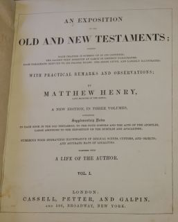 Matthew Henrys Commentary on Bible Set Complete 1835 Maps Illus 3