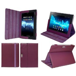 MiTAB Purple Bycast Leather Case Cover For The Sony Xperia