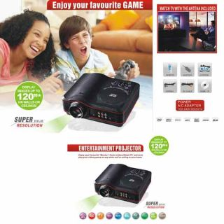 Home Theater Portable DVD Projector Support DVD,RMVB (MP5),TV,GAME,USB