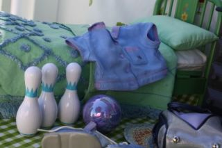 American Girl Bowling Uniform Gear Large Lot First Few Pictures