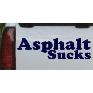 Asphalt Sucks Off Road Car Window Wall Laptop Decal Sticker    Navy