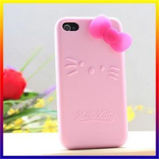 hello kitty cute pink silicone case for ipod itouch 4 gen 4g 4th back