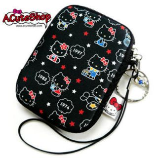 Hello Kitty iPod Phone Camera Pouch Case 35th yr Blk