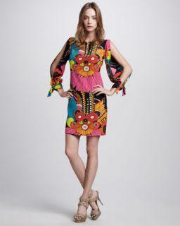 Trina Turk Aicha Floral Print Dress   Neiman Marcus