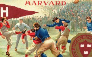 1911 Authentic Harvard Football T6 Murad Premium College Series