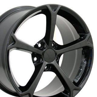 19 Fits Chevrolet   Corvette Grand Sport Style Replica Wheels   Black