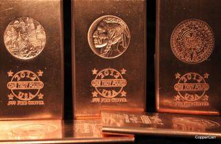Pound 999 Fine Copper Bullion Art Bars  not Homemade