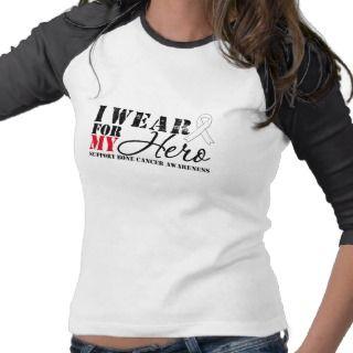 Bone Cancer Hero White Ribbon Tee Shirts