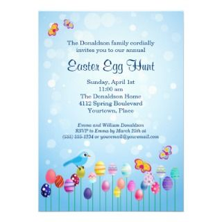 Easter Garden Egg Hunt Party Invitation