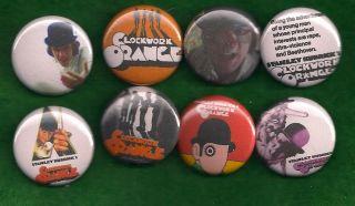 Clockwork Orange Pins Buttons Badges Kubrick Movie