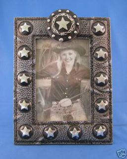 Western 4 by 6 Picture Frame with Stars and Barb Wire