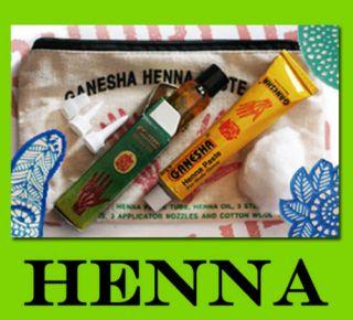 Amazing Henna Mehndi Temporary Body Art Tattoo Kit inc henna oil and