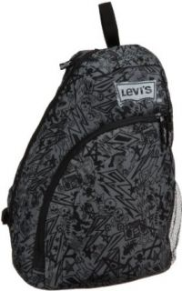 Levis Boys 8 20 Unistrap Bag, Black Scribble, One Size