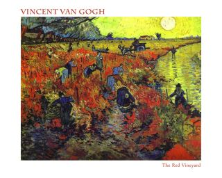 Art T Shirt Van Gogh Red Vineyard