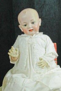 RARE German 22 Hertel Schwab Bisque Dome Head Character Baby Doll
