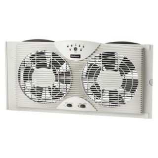 Holmes Window Twin 8 Blade Dual Fan 3 Speed with Digital Thermostat