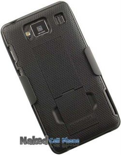 PureGear Black Case Belt Clip Holster Stand for Motorola Droid RAZR HD