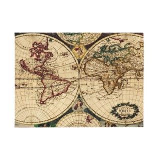 richly hued design of Carington Bowles famous Old World Map