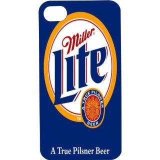 One Piece iPhone 4 or 4s White Plastic Case Miller Lite