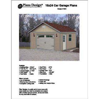16 X 24 Car Garage/workshop Project Plans  Design #51624