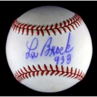 Lou Brock Signed Baseball   Nl ~psa Dna Coa~w 938~hof