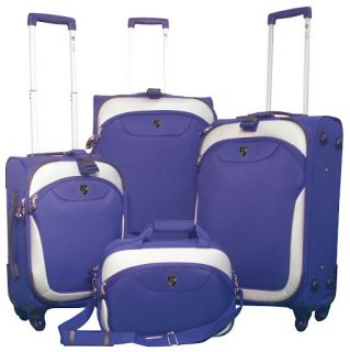 Heys EZ 4 Wheeler Expandable Spinner Luggage Set Blue