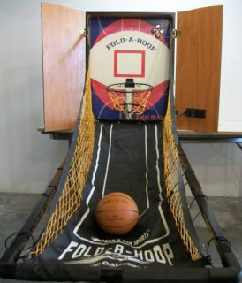 Park & Sun Sports Fold A Hoop Indoor Wall Mounted Basketball Game