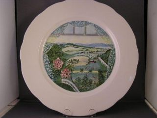 Grandma Moses Hoosick Valley from The Window Plate