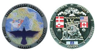 Thule Air Force Base 821st Greenland Challenge Coin