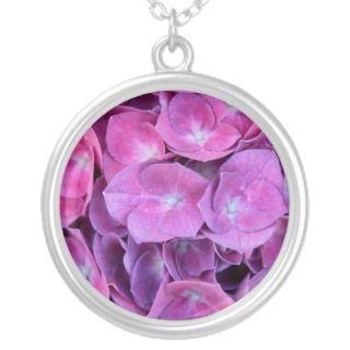 Colorful Hydrangea Flowers Custom Jewelry