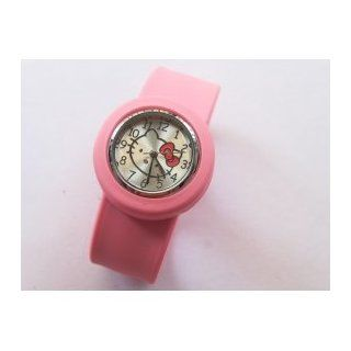 Hello Kitty Wrist Watch Braceletk Jelly Slap Color Pink Watches