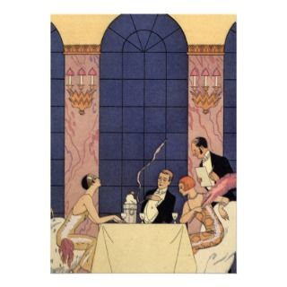 Art Deco Fine Dining Cards