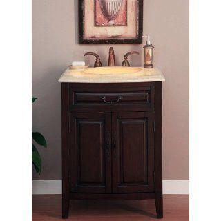 27 Bathroom Furniture LED Lighted Honey Onyx Top Single