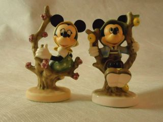 Goebel Disney Mickey Herbst Minnie Fruehling Mouse Apple Tree Set