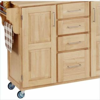 home styles furniture kitchen cart in natural finish 55153 the freedom
