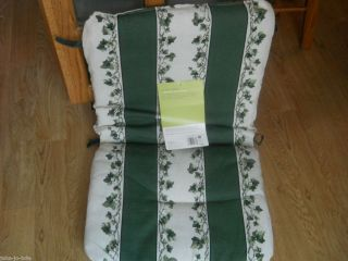 Stripe Garden Wrought Iron Furniture Cushion High Back Chair
