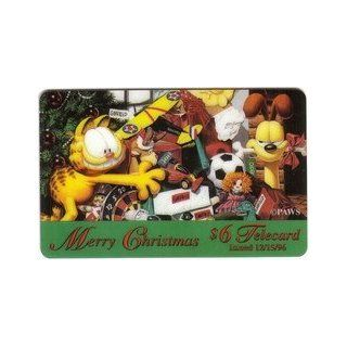 Collectible Phone Card $6. Garfield, Odie And Toys