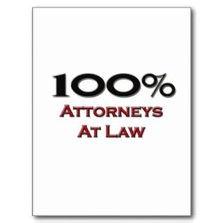 100 Percent Attorneys At Law Post Card