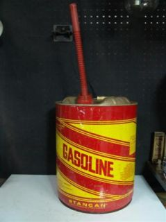 Pre Ban Vented Easy Pour 5 Gallon Metal Gas Can Stancan Gasoline Can w