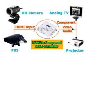 AV CVBS Composite RCA to HDMI Video Converter Adapter for TV PC PS3