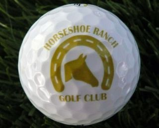 Horseshoe Ranch Golf Club Logo Golf Ball