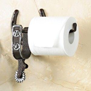 Western Horse Shoe Spur Towel Rack Toilet Paper Holder Bath Room Hook