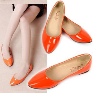 Casual Ballet Flat Shoes Pointed Toe Flattie Women Lady Girl