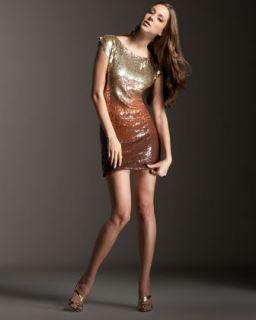 Alice + Olivia Voula Ombre Sequin Dress