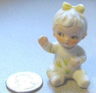 Vintage Small Napco Figurine 2 Little Girl in Pajamas