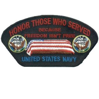 Honor Those Who Served US Navy Military Veteran Cap Patch